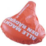 Bicycle seat cover with large printable surface 950040