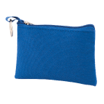 Key bag with zip polyester 600D blue 820747