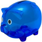 Sparschwein XL transparent blau 9850