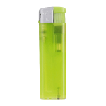 Flat electronic TL lighter, refillable lime green 420439