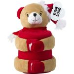 Christmas stuffed animal with blanket 2532