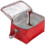 Polyester (420D) cooler bag suitable for six cans red 3604