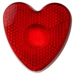 Heart shaped safety light 8105