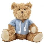 Plush teddy bear with hoodie light blue 8182