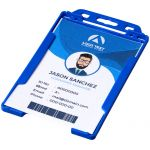 Pierre transparent badge holder blauw 210606
