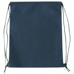 Backpack with drawstring blue 9676