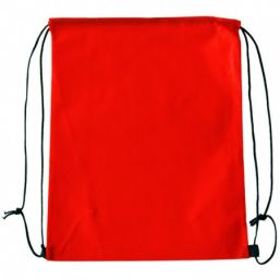 Backpack with drawstring red 9676