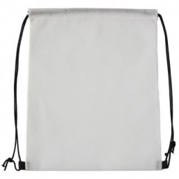 Backpack with drawstring white 9676