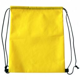 Backpack with drawstring yellow 9676