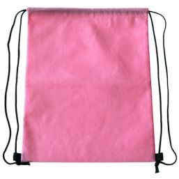Backpack with drawstring pink 9676