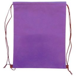 Backpack with drawstring purple 9676