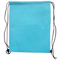 Backpack with drawstring light blue 9676