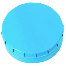 Round Click Tin with approx. 12gr. mints light blue 501120