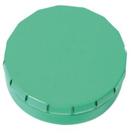 Round Click Tin with approx. 12gr. mints green 501120