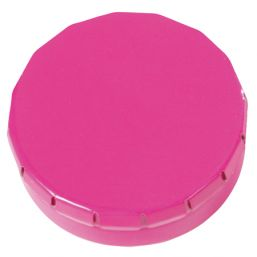 Round Click Tin with approx. 12gr. mints pink 501120