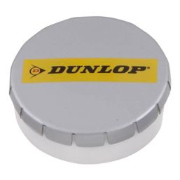 Super round plastic Click container with approx. 12gr. Sugarfree mints grey 501122