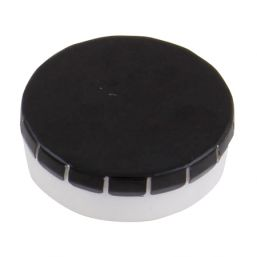 Super round plastic Click container with approx. 12gr. Sugarfree mints black 501122
