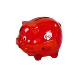 Tirelire pt cochon rouge 824006