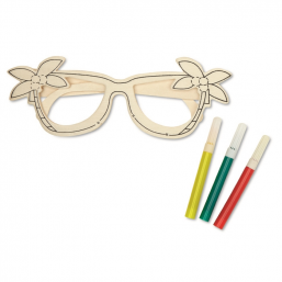 Wooden glasses painting set MO8247
