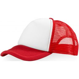 Trucker 5 panel cap rood/wit 111069