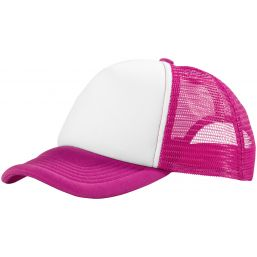 Trucker 5 panel cap roze/wit 111069