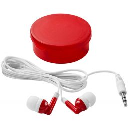 Versa earbuds transparent red/white 108219