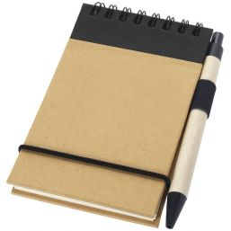 Zuse A7 recycled jotter notepad with pen natural/black 106269