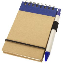 Zuse A7 recycled jotter notepad with pen natural/navy 106269