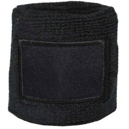 Towel Wristband with Label black 1520