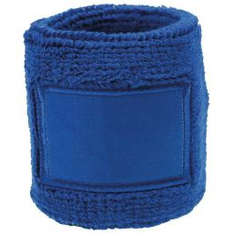 Towel Wristband with Label royal blue 1520