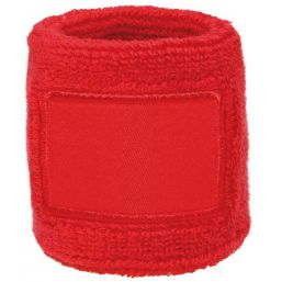 Towel Wristband with Label red 1520