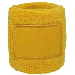 Towel Wristband with Label yellow 1520
