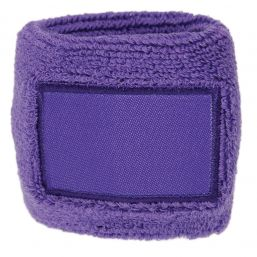 Towel Wristband with Label purple 1520