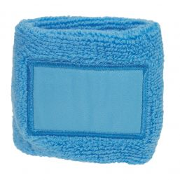 Towel Wristband with Label light blue 1520