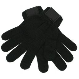 Retro Knitted Gloves with Label black 1867