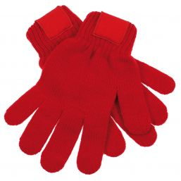 Retro Knitted Gloves with Label red 1867