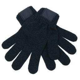 Retro Knitted Gloves with Label navy 1867