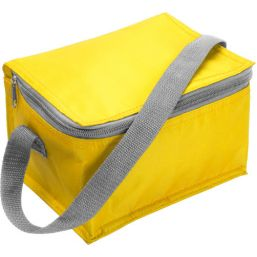 Polyester (420D) cooler bag suitable for six cans yellow 3604