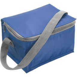 Polyester (420D) cooler bag suitable for six cans light blue 3604