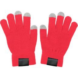 Gloves for capacitive screens red 5350