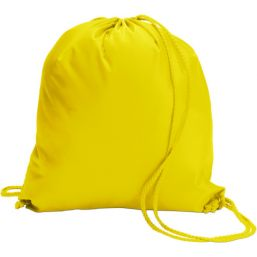 Polyester (190T) drawstring backpack yellow 6242