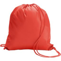 Polyester (190T) drawstring backpack red 6242