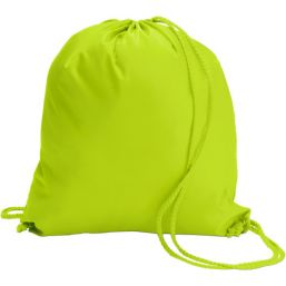 Polyester (190T) drawstring backpack lime 6242