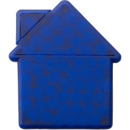 House shaped mint card cobalt blue 6671