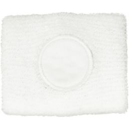Cotton sweat band white 9078