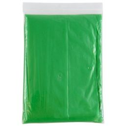 Disposable poncho transparent green 9789