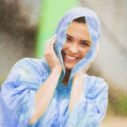 Impression image of Disposable poncho
