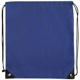 Polyester drawstring backpack blue 9876