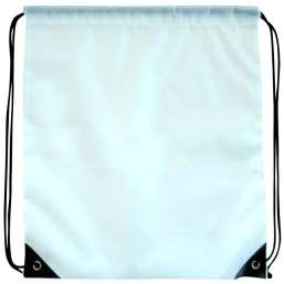 Polyester drawstring backpack white 9876