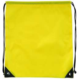 Polyester drawstring backpack yellow 9876